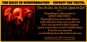 hear no evil see no evil speak no evil regardless of what you know ...