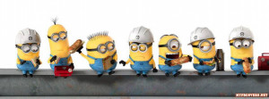 Minions at work Facebook Timeline Cover