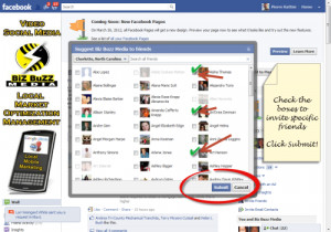 Then select your facebook friends and to your Facebook fan page .