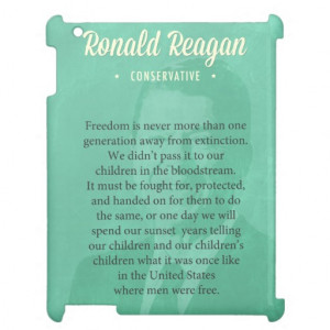 President Ronald Reagan Quote iPad Cover