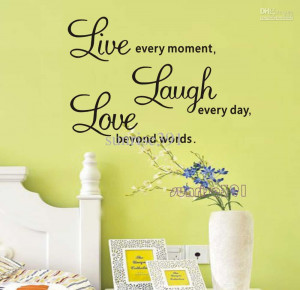 ... Quote Wall Stickers Home Decor Art Decal Life Sticker Decals Quotes