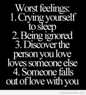Worst feelings quotes
