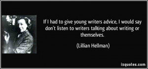 advice for young writers and writers that are young at heart