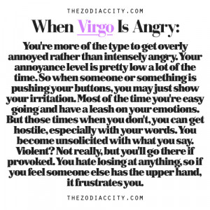 Zodiac Files: When Virgo Is Angry.