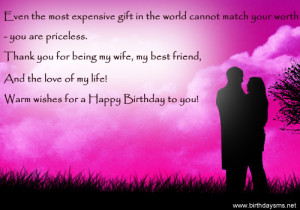 birthday quotes for wife birthday love quotes for wife birthday card ...