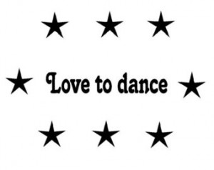 Quote decal-Quote sticker-Dance quote-Star decal-Star sticker-Wall ...