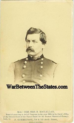 Union General George B McClellan