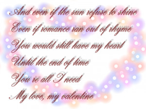 ... My Love, My Valentine - Martina McBride & Jim Brickman Song Quote