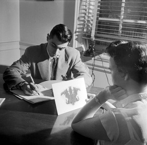 Rorschach Inkblot Test being used in the Montefiore Hospital in 1950