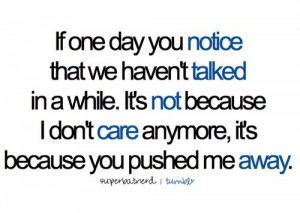 done caring.