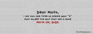 Dear Math, I am sick and tired of finding your X Facebook Cover