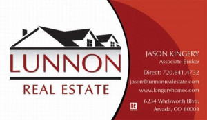 Red Real Estate Business Card Quotes Design with Home Logo