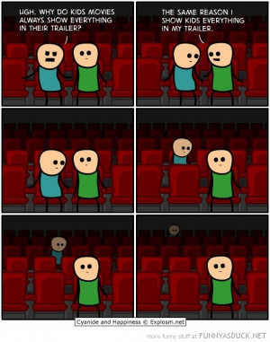 cyanide happiness comic movie theater cinema show kids trailer funny ...