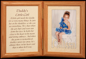 Daddys Little Girl Poems 5x7 hinged laser & poetry