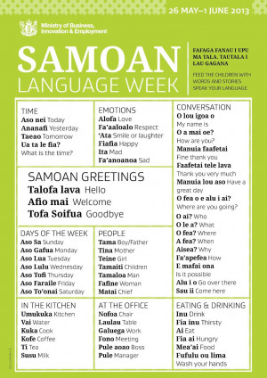 It's Samoan Language Week