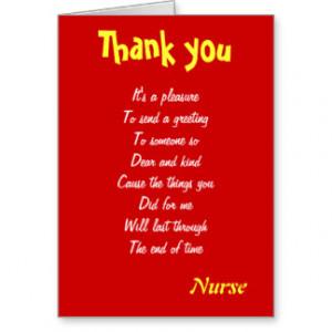 Thank You Nurse Cards & More