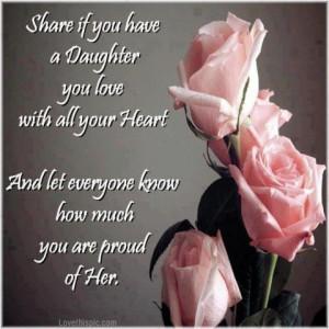 proud of my daughter