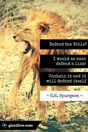 CH Spurgeon – Defending the Bible