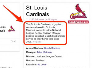 "If you Googled ""St. Louis Cardinals"" before 5 pm on Monday, you ..."