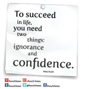 Success* A Mark Twain life quote.