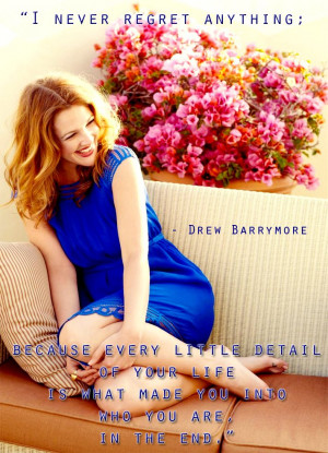 Drew Barrymore's intelligent quote & life lesson