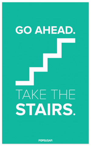 Motivational Workout Poster: Take the Stairs