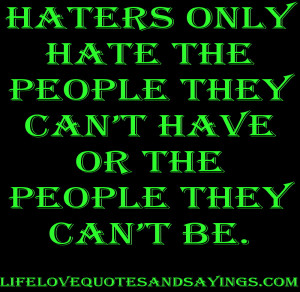 Hater Quotes Images for - haters quotes