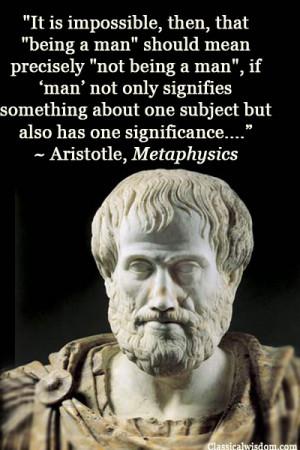 aristotle metaphysics quotes
