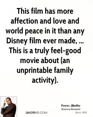 Disney Movie Quotes About Family This film has more affection