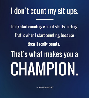 Champions – Inspirational Quote