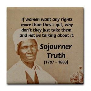 Feminist Sojourner Truth Tile Coaster on