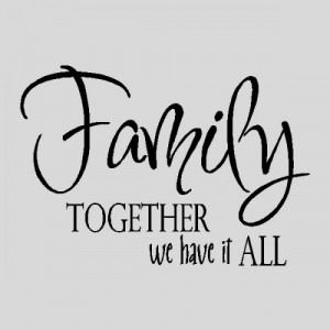 Family....Wall Quotes Words Sayings Removable Wall Lettering 12
