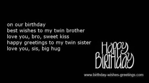 Twin Sister Poems Twins birthday poems and first