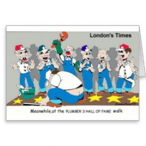Plumbers Hall Of Fame Funny Gifts & Collectibles Greeting Card