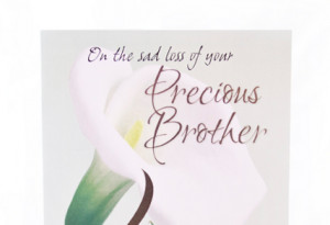brother card on the sad loss of your precious brother dimensions 22 ...