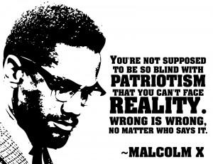 Quote Malcolm X Sticker