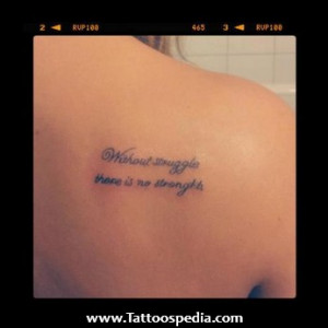 Quote Tattoos For Women On Shoulder Shoulder word tattoos for