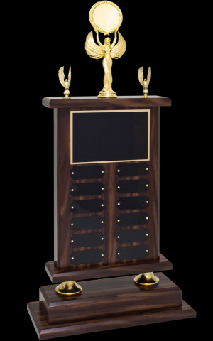 Walnut Finish Plaque Trophy (P)