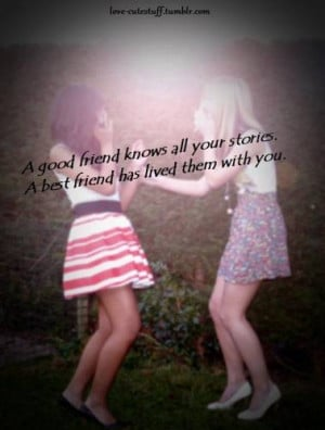 Good Friend Knows All Your Stories ~ Best Friend Quote