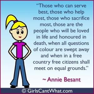 Annie Besant Quote