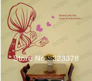 Export Wholesale Sweet Girl Word Quote Lettering wall Decal Text Kids ...