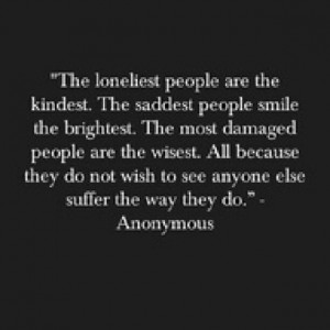 Loneliness Is Always With Me…