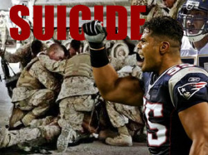 NFL Great Junior Seau and U.S. Veterans Go Suicide When Game is Over