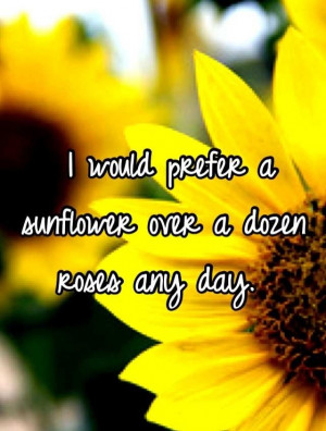 love Sunflowers, and Daisies too