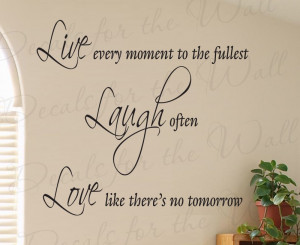 Live Laugh Love Wall Decal Quote