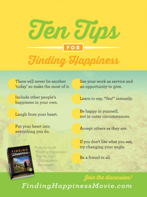 Finding Happiness Quotes Finding happiness tips day by