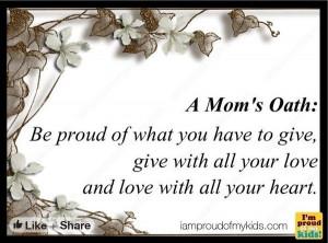 Mom's oath