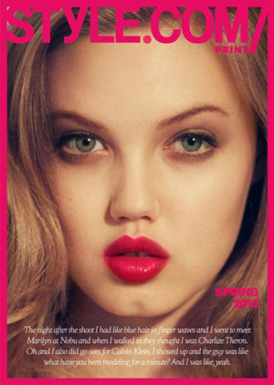 Lindsey Wixson Graces Style.com's New Print Magazine With Sparkling ...