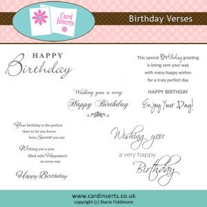 DD Birthday Verses