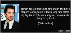 More Christian Bale Quotes